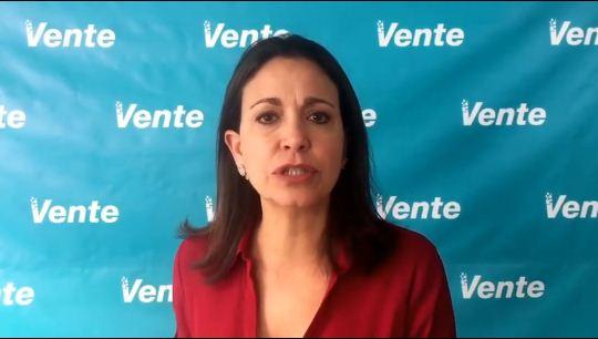 María Corina Machado   Foto: Captura de video