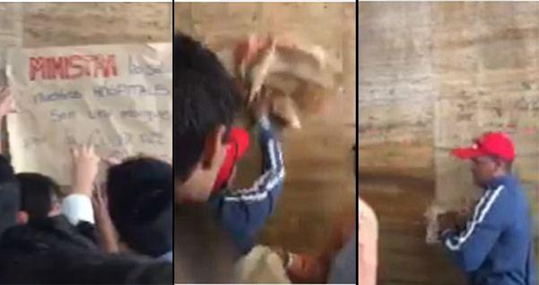 Colectivos irrumpieron protesta de la escuela de medicina de la UCV  | captura de video