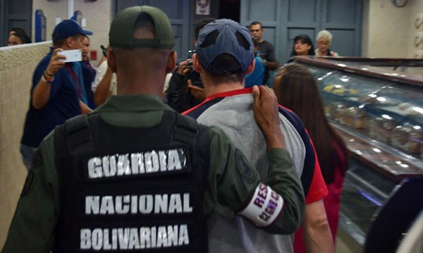 GNB detiene a panaderos durante fiscalización  Foto: Twitter