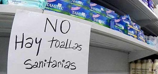 Escasez de toallas sanitarias | Foto referencial
