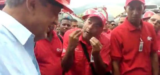 Trabajador petrolera le reclama a Eulogio Del Pino | Foto: captura de video