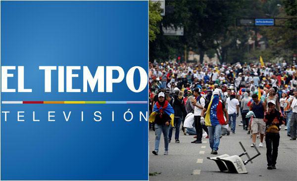 Canal colombiano fue sacado del aire en Venezuela por transmitir protestas | Composición