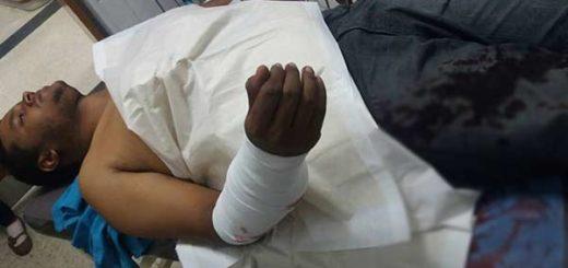 Manifestantes fue atropellado este #24A  Foto: Twitter