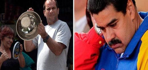 Habitantes de Simón Rodríguez en Caracas cacerolearon a Maduro mientras hacía su programa dominical en el Ávila | Composición