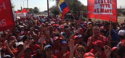 La realidad de la concentración oficialista en Coro que VTV no mostró | Foto: @VTVcanal8