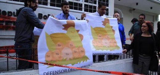 Diputados amanecieron en la Defensoría del Pueblo para clausurarla simbólicamente | Foto: Twitter