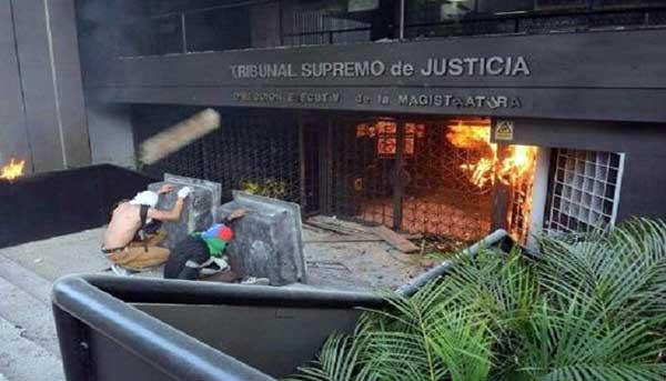 9 personas serán presentadas en tribunales por incendio de la Magistratura | Foto: Twitter