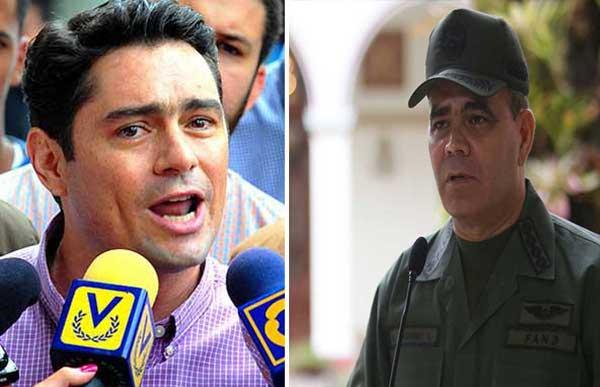Carlos Vecchio, le envió un contundente mensaje al ministro de Defensa, Vladimir Padrino López   Composición