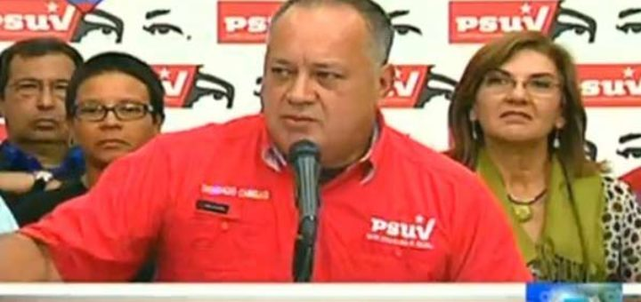 Diosdado Cabello, primer Vicepresidente del Psuv  Foto: @ReporteYa