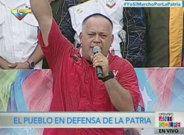 Diosdado Cabello en acto oficialista|Captura de pantalla