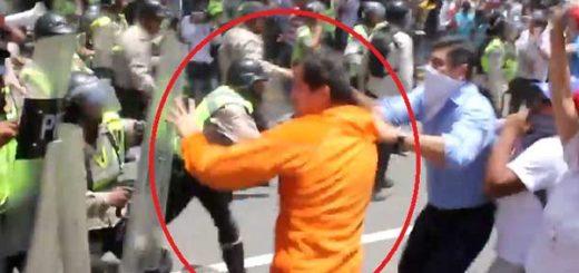 Diputado Juan Guaidó reprimido por la PNB, marcha #4A |Captura de video