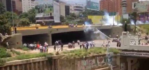 Represión en El Rosal |Captura de video
