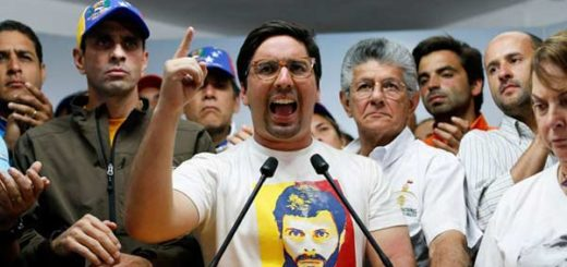 Freddy Guevara junto a dirigentes de la Unidad |Foto: Reuters