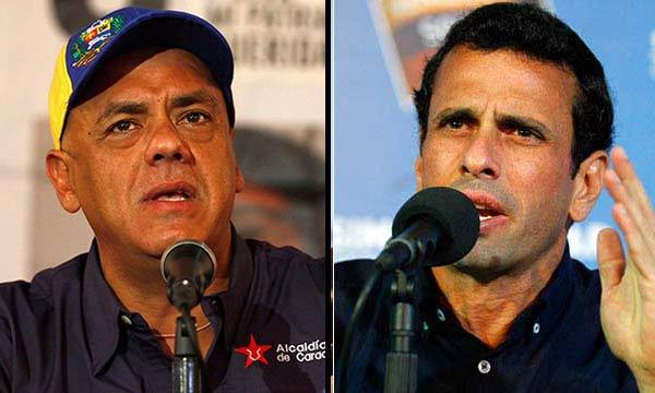 Jorge Rodríguez / Henrique Capriles   Composición Notitotal