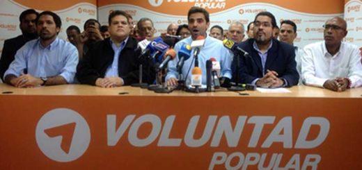 Diputado Juan Andrés Mejía ofrece declaraciones en nombre de Voluntad Popular |Foto: Twitter