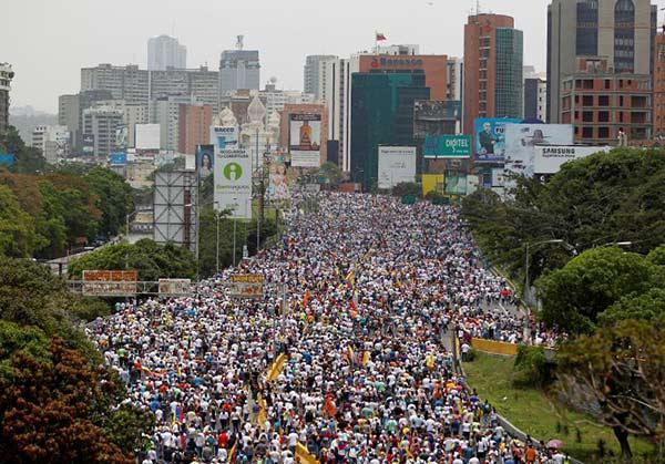 La mamá de las marchas convocadas por la oposición |Foto: Reuters