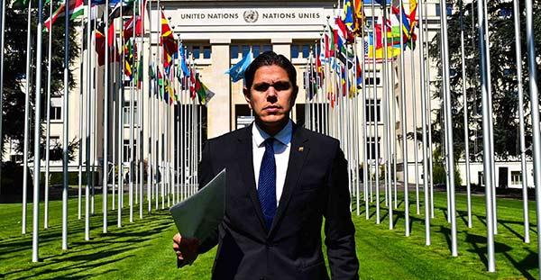 Lester Toledo en la ONU |Foto: Nota de prensa