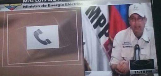 Ministro para la Energía Eléctria, Luis Motta Domínguez |Foto: Corpoelec