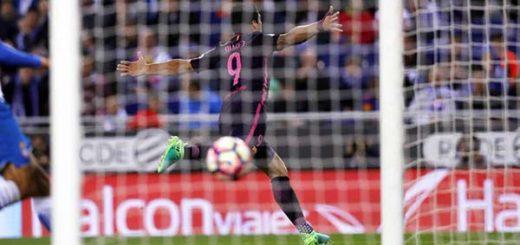Luis Suárez protagonizó victoria ante el Espanyol |Foto: @FCBarcelona_es