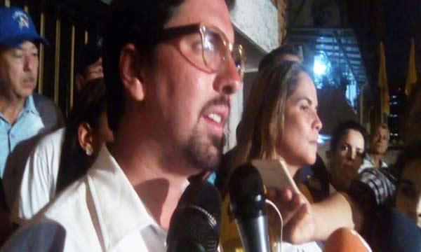 Diputado Freddy Guevara anuncia la agenda de la MUD |Foto: Nota de prensa