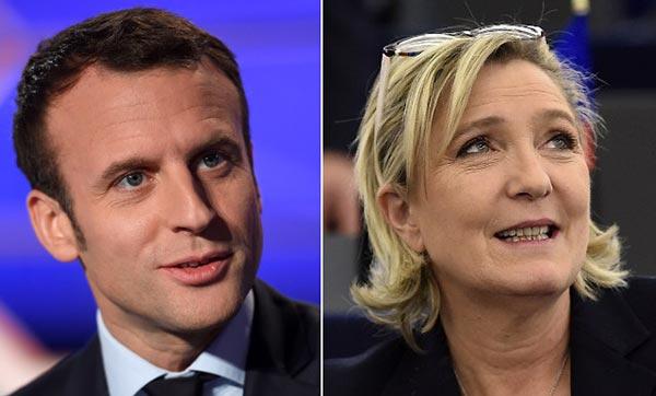 Macron y Le Pen encabezan las presidenciales de Francia