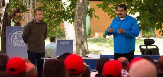 El presidente Nicolás Maduro y el Vicepresidente Tareck El Aissami |Foto: Prensa presidencial