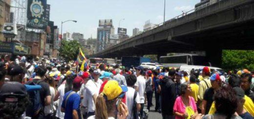 Marcha de la oposición #4-A es reprimida |Foto: Venezuela Somos Todos