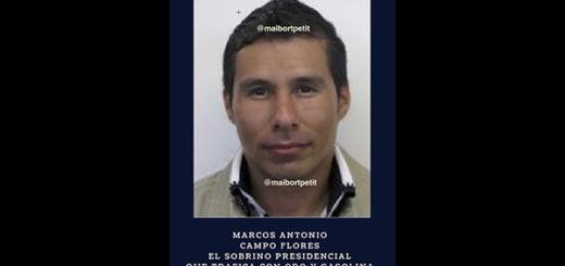 Marco Antonio Campo Flores, sobrino de Cilia Flores | Foto: @maibortpetit