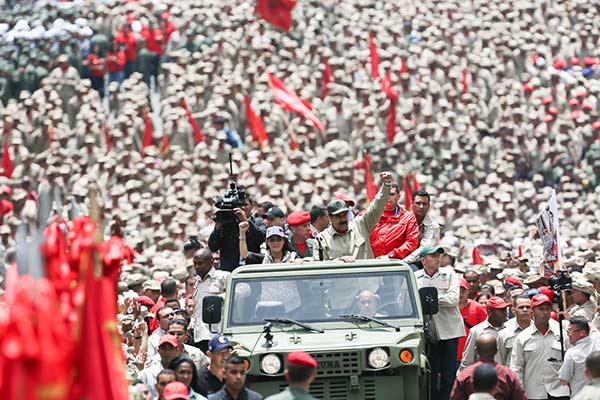 Este lunes el presidente Nicolás Maduro conmemoró el séptimo aniversario de la Milicia |Foto: Prensa Presidencial