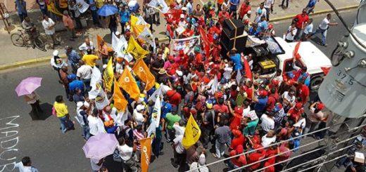 Oficialismo quiso sabotear El Plantón de la oposición en Delta Amacuro |Foto: Larissa González