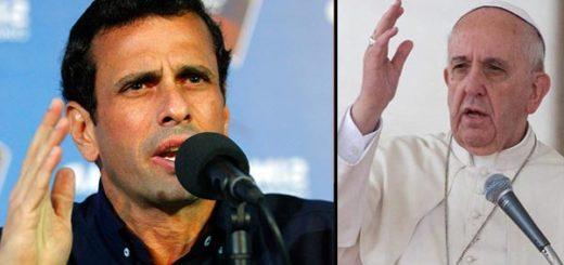 Henrique Capriles le responde al Papa | Notitotal