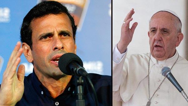 Henrique Capriles le responde al Papa   Notitotal