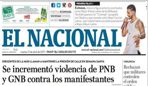 Portada de diario nacional de este martes |Foto: Redpres