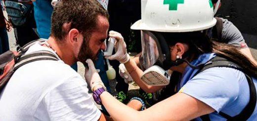 Brigada de Primeros auxilios de la UCV, Cruz Verde |Foto: Twitter