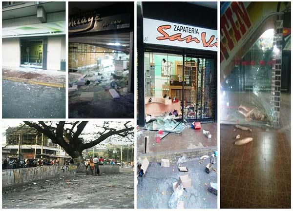 Saqueos en Guarenas afectó varios comercios |Foto: @Imag3n
