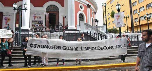 Artistas protestaron ante inauguración del Festival de Teatro |Foto: El Nacional