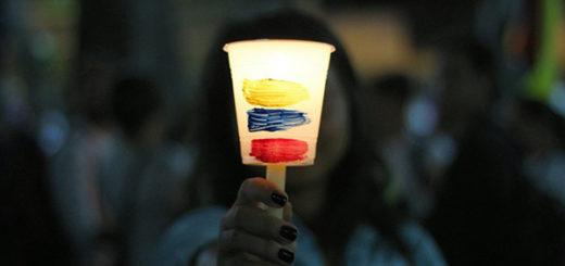 Vigilia por los caídos en Chacao | Foto: La Patilla