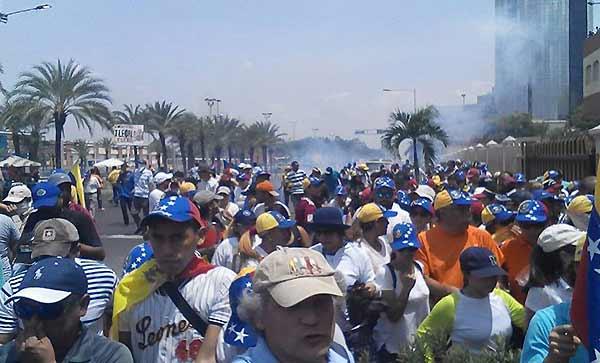 Protesta en Puerto Ordaz | Foto: Twitter