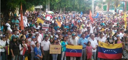 Marcha opositora en Amazonas | Foto: Twitter