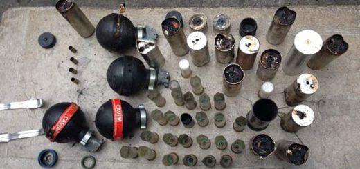 Arsenal usado contra manifestantes en la Urb. Sucre, en Barquisimeto | Foto: Twitter