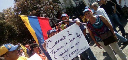 Manifestantes en Chacaíto | Foto: Twitter