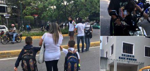 Niños son desalojados de el Colegio San Pedro | Foto: Twitter