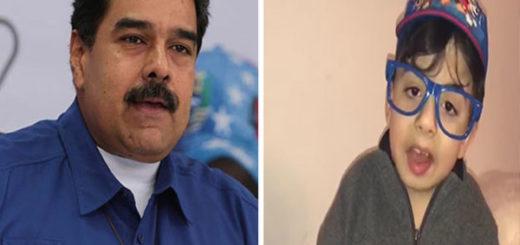 La petición que le hizo el famoso niño de Instagram a Nicolás Maduro | Composición