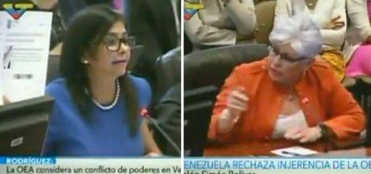 Delcy Rodríguez en la OEA | Captura de pantalla