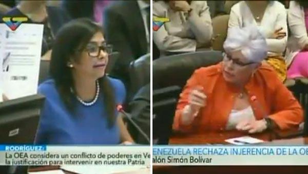 Delcy Rodríguez en la OEA   Captura de pantalla