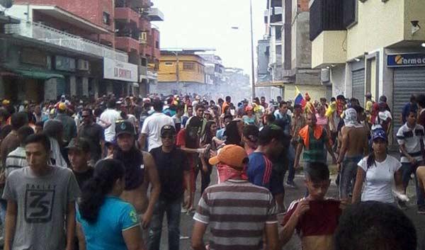 Reprimen marcha opositora en Guanare, Portuguesa | Foto: Twitter