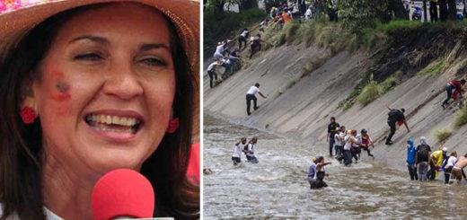 Jacqueline Faría se burla de los manifestantes que se lanzaron al Guaire   Notitotal