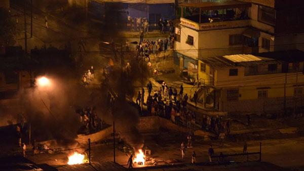 Disturbios en Los Teques | Foto: Twitter