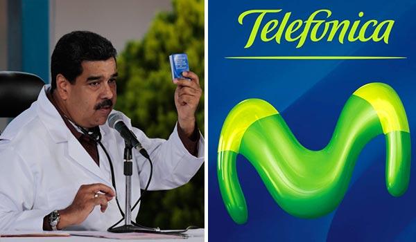 Nicolás Maduro ordenó bajar precios de tarifa de Movistar |Composición: Notitotal