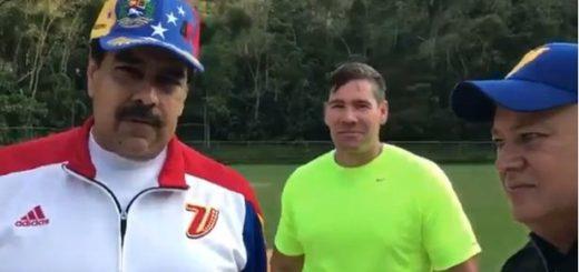 Maduro junto Winston Vallenilla y Diosdado Cabello   Foto: captura